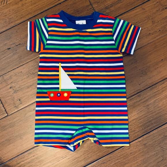 79bb005edc204 Florence Eiseman One Pieces | Sailboat Knit Romper Baby Boy 9m ...